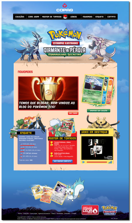 Site do Pokémon TCG da Copag