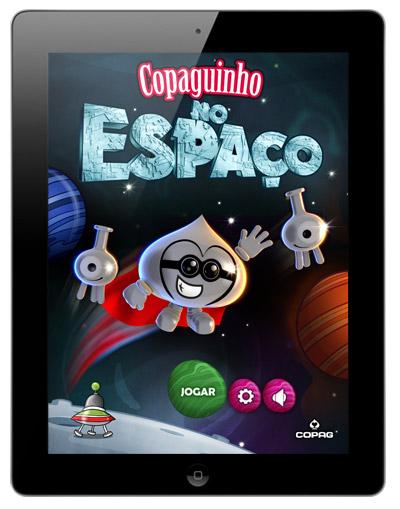 Copaguinho no Espaço, o jogo do Copaguinho para iPad