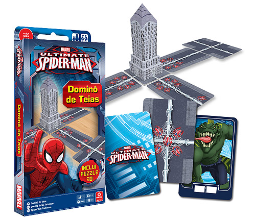 Jogo Dominó de Teias Ultimate Spider-man da Copag